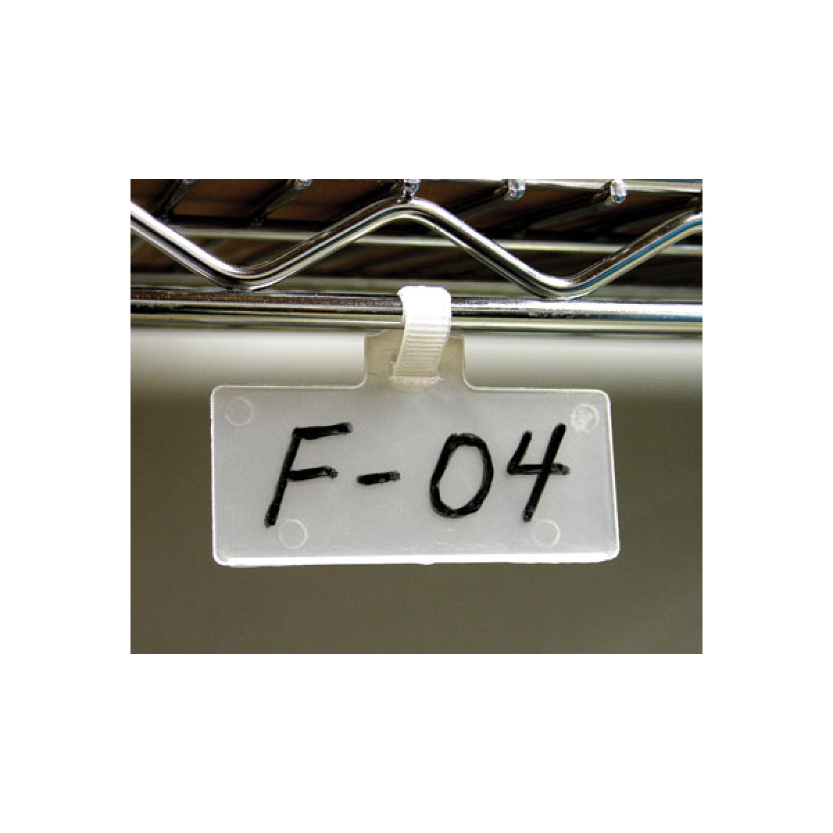One-Piece Wire Rack Tags for Warehouse
