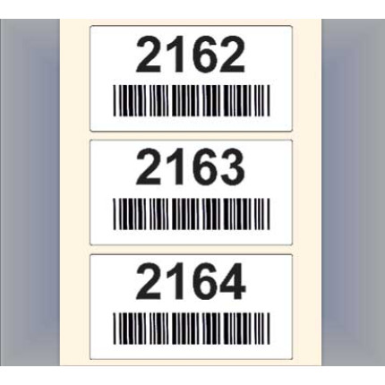 Sequentially numbered custom barcode labels for location tracking in Warehouse