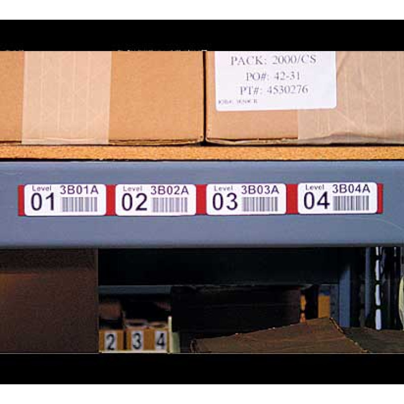 Longer magnet for several rack level labels