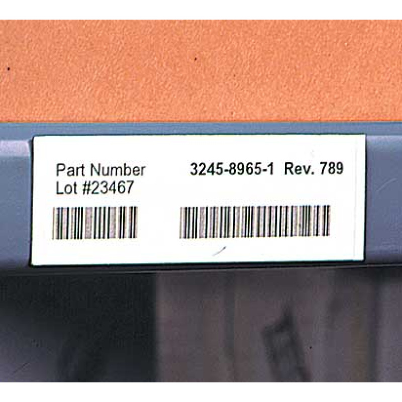 Warehouse shelf magnet with bar code label