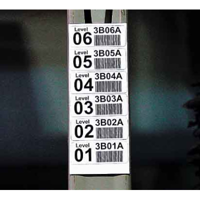 Man-Down - B/W Labels and Mount barcoding for warehouses