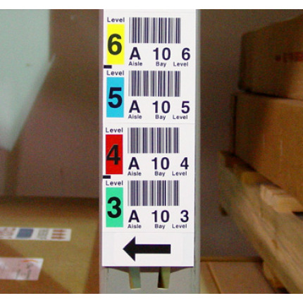 Man-Down - Color Labels and Mount for barcoding in warehouses