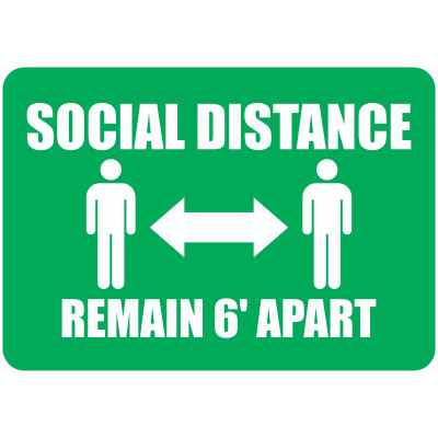 Social Distancing custom signs