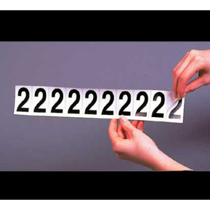 adhesive number strip - 2 inch black on white