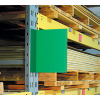 warehouse aisle color blank sign with magnetic foot