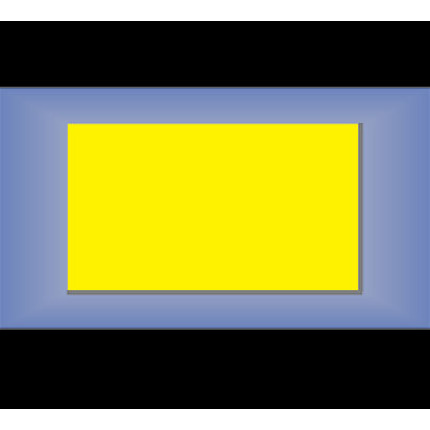 warehouse sign blank in plain, yellow plastic