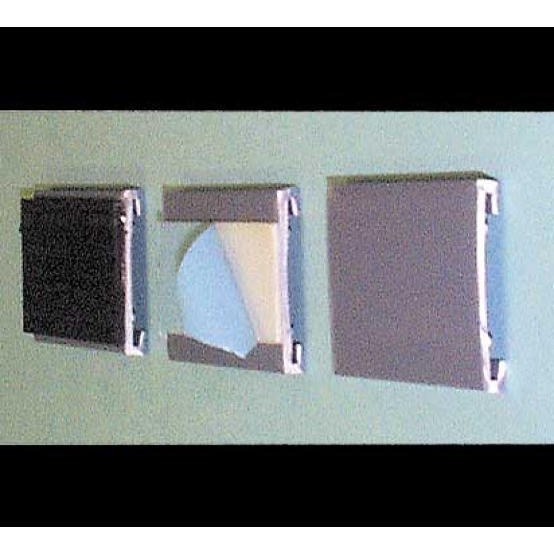 plastic c-channel cardholder backings