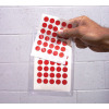 Color Dots stickers - red dots on 5 sheets in a clear pouch