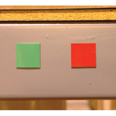 red green two sided magnets