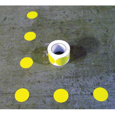 Floor marking color dot symbol