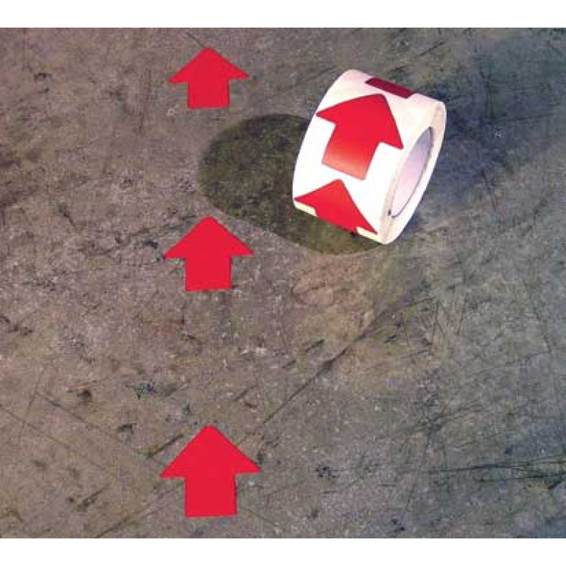 Floor marking color arrow symbol