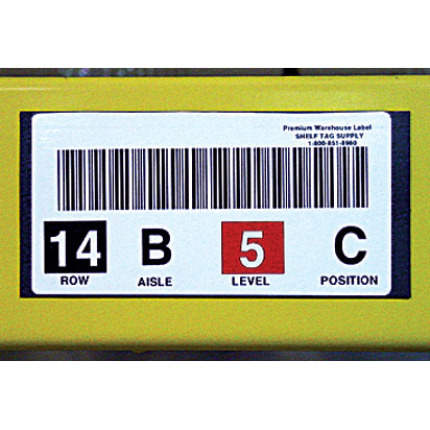 Custom printed, magnetic bar code label on rack
